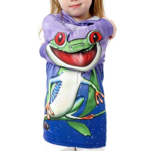 Tree Frog Sweatshirt - MouthMan Unisex-Child Tree Frog Hoodie Shirt Purple 6