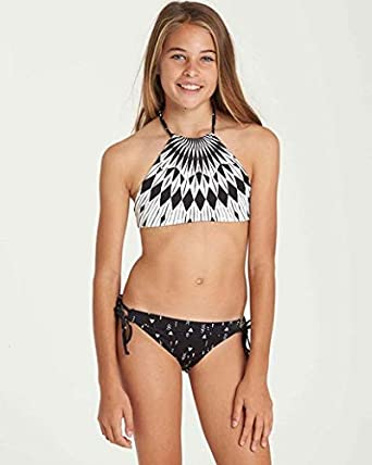 5f18165d4 Amazon.com  Billabong Little Girls  Sundial Rev Hi Neck Two Piece ...
