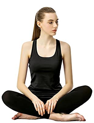 Alizeal Women Camisole Tank Top With Built In Shelf Bra For Sports and Daily Wear