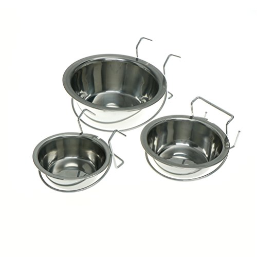 Cat Pen - S M L Dog Cage Bowl Hanging Three Dimension Stationary Stainless Steel Pet Cat Can Hang - Stainless Dogs Feeding Dishes Bowl Pouch Mats Carpet Lick Storage Medium Dispenser Accesso