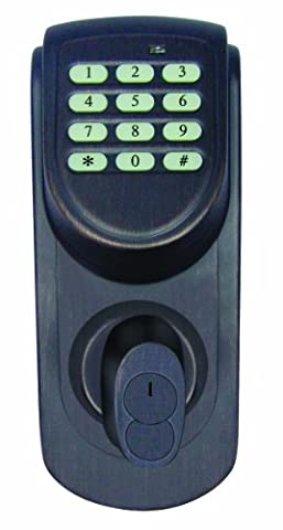 Design House 702548 Keypad Deadbolt, Adjustable Backset, Brushed Bronze Finish - Bronze Finish Adjustable Spring