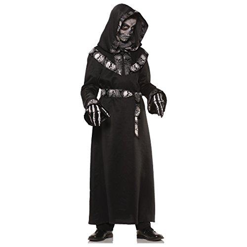 Underwraps Big Boy's Underwraps Boy's Skull Master Costume, Large Childrens Costume, Multi, Large (Last Minute Halloween Costume Ideas For Kids)