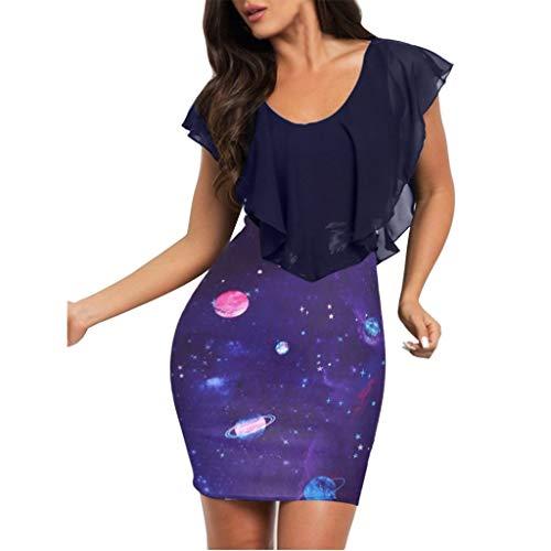 (HebeTop Sleeveless Summer Flared Casual Dresses for Women, Vintage Dresses, Evening Bodycon Mini Dress Sundress Purple)