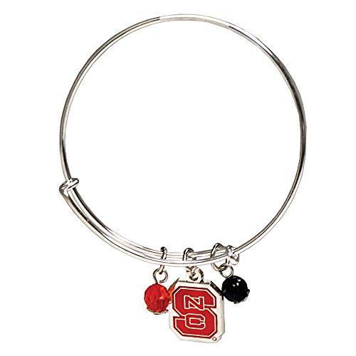 (Fan frenzy Gifts NCAA North Carolina State University Wolfpack Bangle Charm Bracelet)