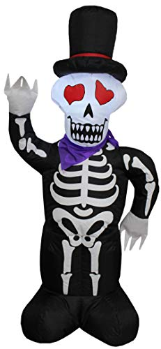 Impact Canopy Inflatable Outdoor Halloween Decoration, Skeleton, 4 Feet Tall -