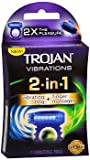 Trojan Vibrations 2-in-1 Vibrating Ring + Finger Massager - 1 each - Pack of 4