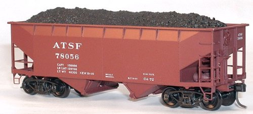 Magnetic Coal Load pkg(12) -- For Accurail 7700-Series Offset-Side Twin (Offset Side Hopper)