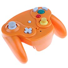 Dovewill Wireless Game Controller + Receiver for Nintendo GameCube Wii GC NGC Gamepad orange