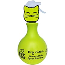 PET HEAD Cat Dry Clean Spray 450-Milliliter Blueberry Muffin Shampoo