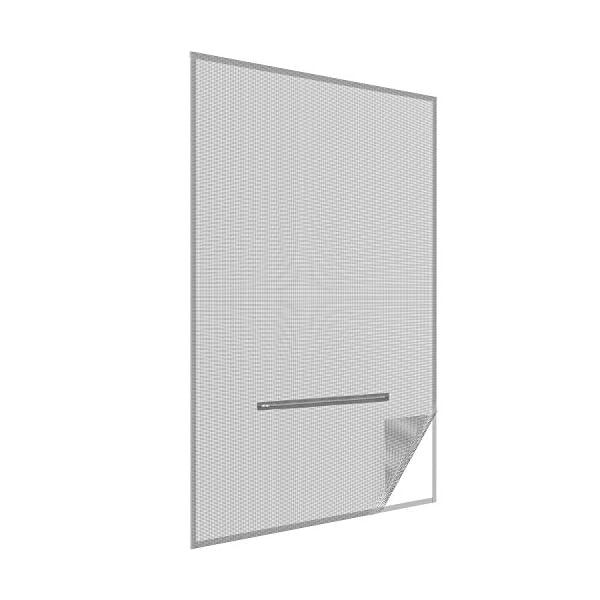 41RA49WoLQL easy life Fliegengitter für Dachfenster 140 x 170 cm in anthrazit Eingriff mit Reißverschluss - auch in weiß wählbar