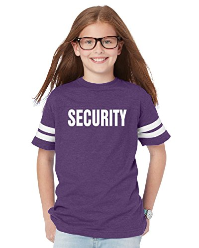 NIB Security Work Uniform Guard Apparel Youth Football Fine Jersey Tee