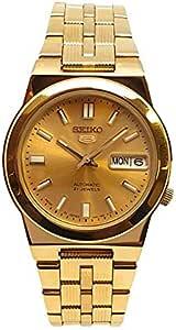 ساعة سيكو 5 أتوماتيكية 21 جواهر ذهبي ستانلس ستيل