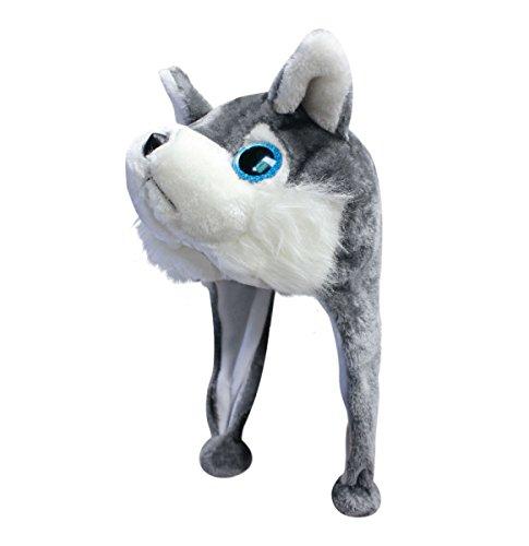 Animal Csi Costumes (New 2015 Plush Faux Fur Stuffed Animal Big Glitter Eye Critter Hat Cap - Over 25 Stlyes! (Wally)