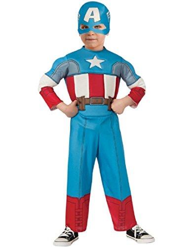 Rubie's Baby Boy's Marvel Classics Avengers Muscle Chest Captain America, Multi, Toddler