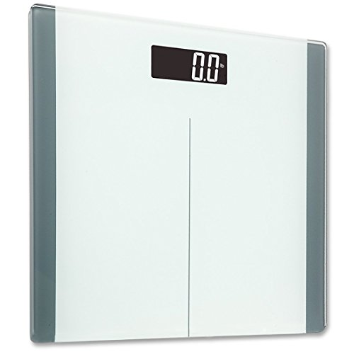 Best Buy! FRK Digital Bathroom Scale with Backlit LCD Display, 400lb Capacity, Pure White