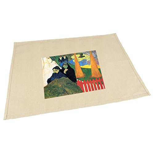 Style in Print Old Maids Winter Garden Arles (Gauguin) Cotton Canvas Placemat Table Mat (Canvas Arles)