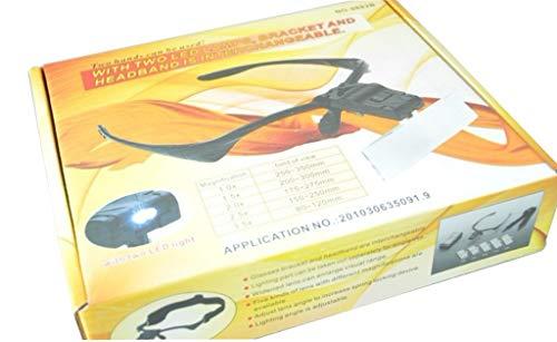 FAYBVCDOKJ Portavasos Lupa y Diadema Gafas Intercambiables Lupa múltiples Lentes múltiples con Espejo de Aumento de luz LED: Amazon.es: Electrónica