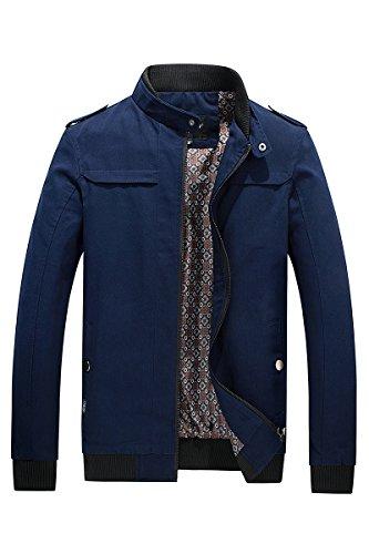 giacca Cappotto Lsm Rivestimento Reale Blu Della Colletto Tuta Coreana Sottile Maschile Alla Sportiva Fx71Zg
