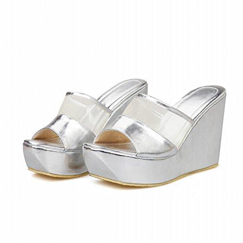 Pictures of Latasa Women's Platform Wedges Slide Sandals 8 M US 3