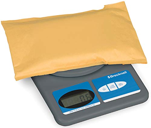 Salter Brecknell 311 Digital Postal Scale - 11 lb / 5 kg Maximum Weight Capacity - ABS Plastic - Gray by Avery