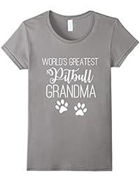 WORLD'S GREATEST PITBULL GRANDMA LOVE MY DOG PAW T-SHIRT