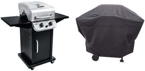 Char-Broil 463673519 Performance Series 2-Burner Cabinet Gas Grill, includes Char-Broil 4828737P04 Grill Cover, Stainless Steel