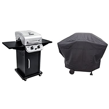 Char-Broil Performance 300 2-Burner Cabinet Gas Grill- Stainless with Char-Broil Performance Grill Cover, 2 Burner: Medium