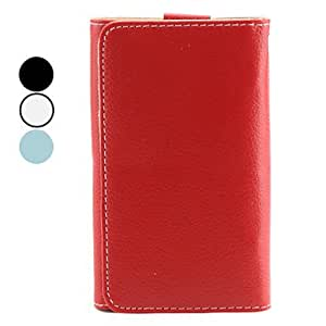 Wallet Style Litchi Grain PU Leather Case for iPhone 5/5S (Assorted Colors) , Blue