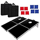 BBBuy Foldable Cornhole Toss Bean Bag Game Set MDF Board with Aluminum Frame (4FT x 2FT)