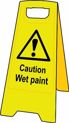 Heavy Duty - A Board Safety Sign - Caution Wet Paint by UK Safety Signs