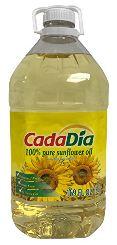 Pure Sunflower Oil 5 L (169 Fl Oz) (1.32 GAL) First Cold Press NON GMO