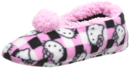 Hello Kitty Women's Sherpa Soft Lined Fleece Slipper Sock, Pink, Small