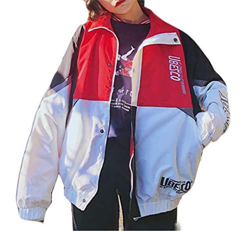 Maniche Lunghe Autunno Donna Giacche Colori Giacca Ragazze Primaverile College Relaxed Outwear Sportivo Leggero Coat Moda Misti Casual Rot Stile Zip Eleganti 0n0Erq8wy