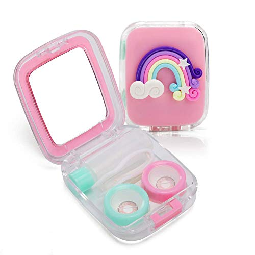 Rainbow Contact Lenses - Contact Lens Box Rainbow Style Cute