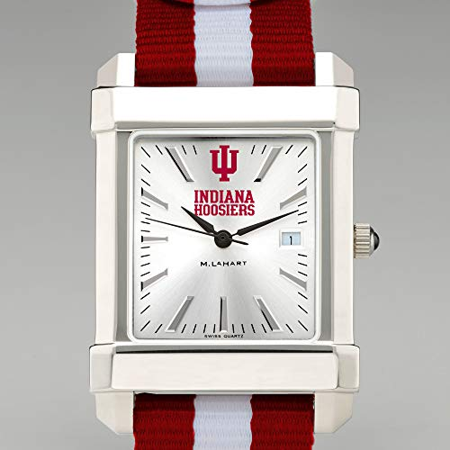 (M. LA HART Indiana University Collegiate Watch with NATO Strap for Men)