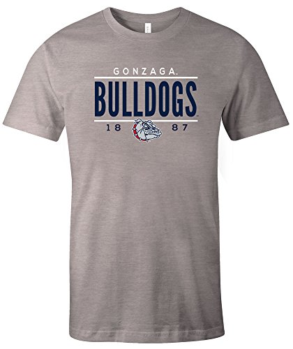 NCAA Gonzaga Bulldogs Tradition Short Sleeve Tri-Blend T-Shirt, Athletic Grey,Small