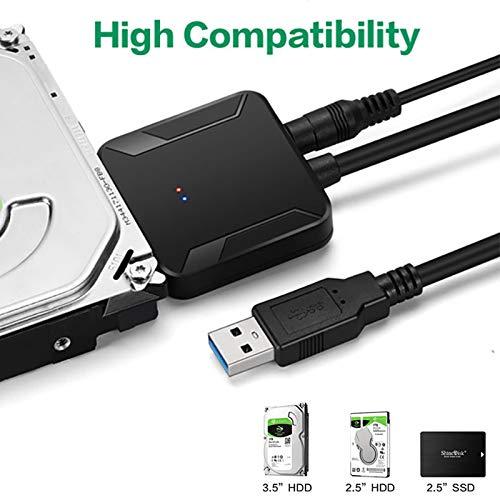 YUYDYU SATA a USB 3. 2.5/3.5 HDD Disco Duro SSD Adaptador ...