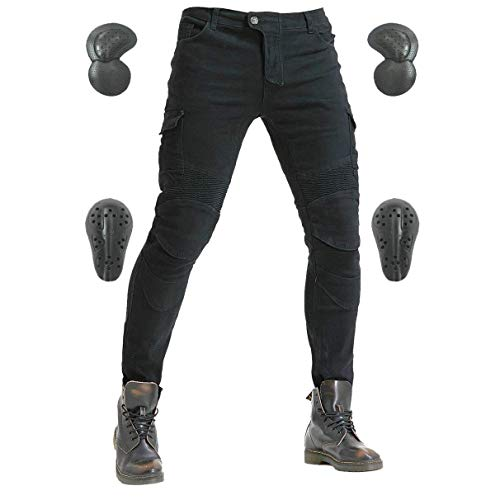 S=28=Waist 31.5 Motorcycle Pants for Men Motocross Motorbike Riding Jeans CE Armored Overpants