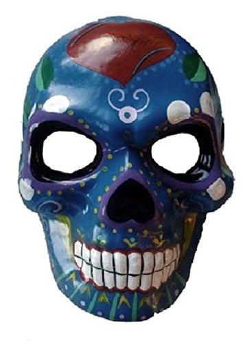 Day of the Dead Sugar Dia de los Muertos Skull Mask Venetian Costume Masquerade (Dia Del Los Muertos Costume)