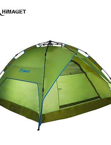 FUDA tent Zelt ( Hellgr¨¹n / Hellblau / Braun , 3-4 Personen ) -Feuchtigkeitsdurchl?ssigkeit / Feuchtigkeitsundurchl?ssig / Wasserdicht /