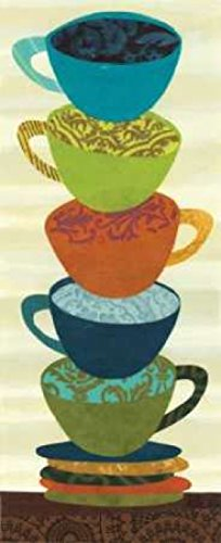 Stacking Cups II Poster Print by Jeni Lee (10 x 20)