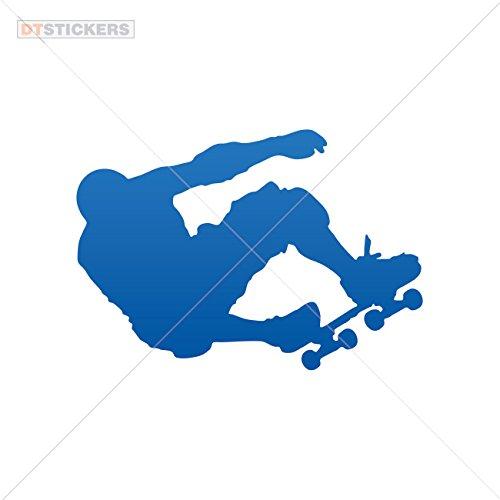 Decal Vinyl Skate Boarding Car Windo Car window jet ski freestyle boy skateboarder skating (7 X 4,87 Inches) Blue Dark