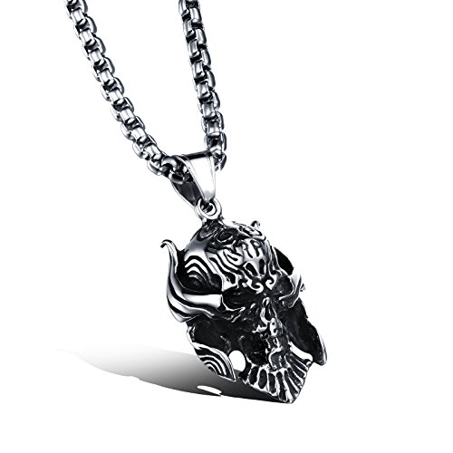 Fashion Jewellery Titanium Steel Personality Alien Skulls Pendant Necklace for Mens (Alien Princess Costume)