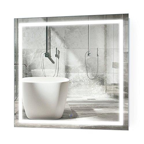 Krugg LED Bathroom Mirror 36 Inch X 36 Inch | Lighted Vanity Mirror Includes Defogger & Dimmer |