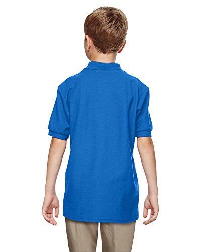 Gildan Boys DryBlend 6.3 oz. Double Piqué Sport Shirt (G728B) -Royal -M-12PK by Gildan (Image #3)