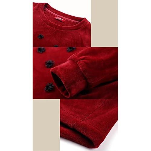 34779a8c39 Pijamas de franela de invierno para mujer Set Ladies de 2 piezas Soft  Loungewear