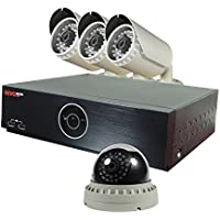 REVO America REH81D1GB3G-2T Elite HD 8 Ch 2TB NVR Surveillance System with 4 2.1 Megapixel HD Cameras (Grey)