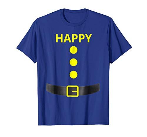 Happy Dwarf Halloween Costume Blue Shirt]()