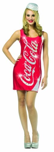 Cocacola Costumes Adult (Coca-Cola Glitzy Tank Dress Costume Adult: 4-8 by Rasta)