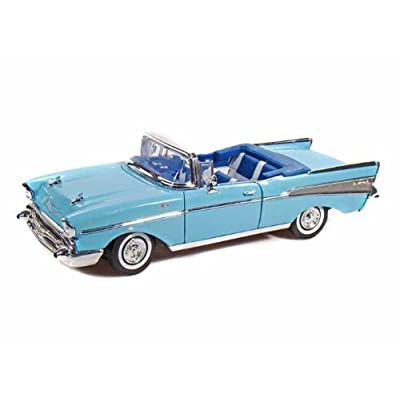 Collectable Diecast 1957 Chevy Bel Air Convertible - Blue: Toys & Games